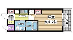 エステムプラザ神戸三宮ルクシア[1011号室]の間取り
