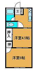 フラットカメリア[2階]の間取り