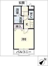 セレーノ西尾B棟[1階]の間取り