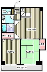フラワーマンションコヤタII[1階]の間取り