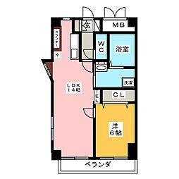 グラシューズ鶴舞[6階]の間取り