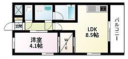Osaka Metro御堂筋線 新大阪駅 徒歩6分の賃貸マンション 9階1LDKの間取り