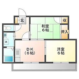 エミネンスマンション[1階]の間取り