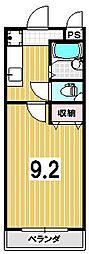 パルテール西川II[23号室]の間取り