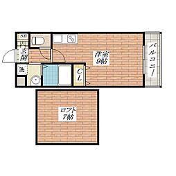 コティー庄[2階]の間取り