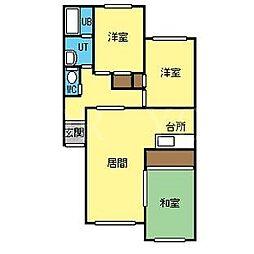 ルナパーク91[2階]の間取り