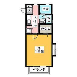 カーサアクトレスA[2階]の間取り
