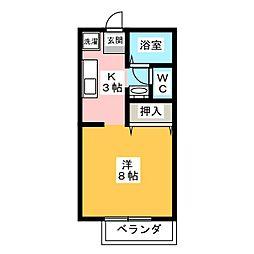 ボナール駒[1階]の間取り