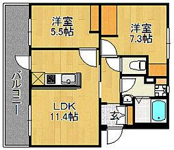 浅川団地300棟[304号室]の間取り