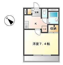 愛知県名古屋市緑区久方3丁目の賃貸マンションの間取り