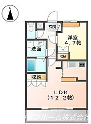 コートヴェール中島田II[2階]の間取り