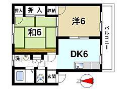 ドミールモリタ[2階]の間取り