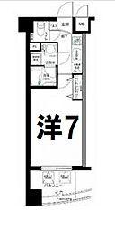 神奈川県横浜市西区桜木町7丁目の賃貸マンションの間取り
