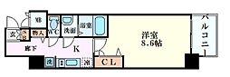 Osaka Metro堺筋線 堺筋本町駅 徒歩5分の賃貸マンション 4階1Kの間取り