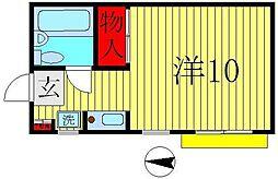 信濃屋ハウス[102号室]の間取り