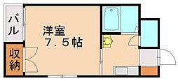 福岡県福岡市城南区友泉亭の賃貸マンションの間取り
