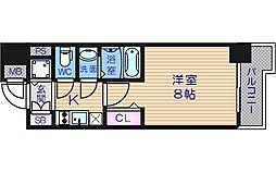 レジュールアッシュ天王寺堂ヶ芝[11階]の間取り