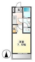 アマーレ松原[1階]の間取り