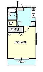 山口ハイム[2階]の間取り