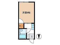 シティハイム倖[2階]の間取り