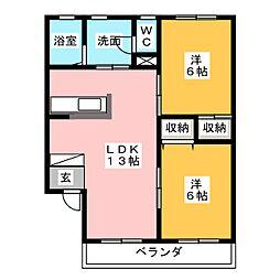 MISSION SQUARE YK−1[1階]の間取り