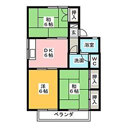セジュールひかり[2階]の間取り