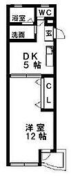 愛知県名古屋市千種区小松町6丁目の賃貸マンションの間取り