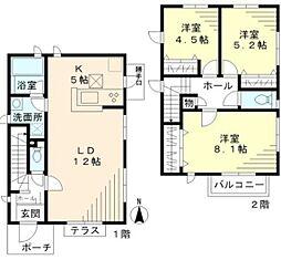 [テラスハウス] 神奈川県茅ヶ崎市東海岸南3丁目 の賃貸【/】の間取り