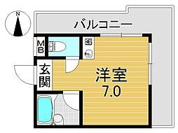 アイエムタワー[4O5号室号室]の間取り