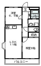 東京都練馬区石神井台3丁目の賃貸マンションの間取り