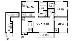 Radis甲東園C棟[2階]の間取り