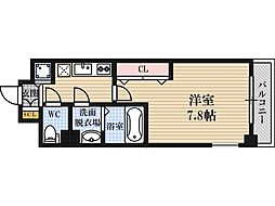 Luxe東三国4 3階1Kの間取り