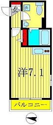 プレシャスアース新松戸[2階]の間取り