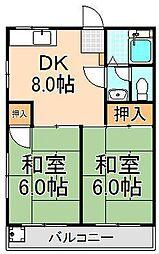 第三大信マンション[2階]の間取り