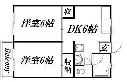 高柳ハイツ[1階]の間取り