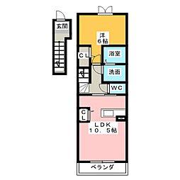 スクエア新正II[2階]の間取り
