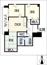 エンポリアム関[7階]の間取り