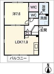ノンシャラン B棟[2階]の間取り