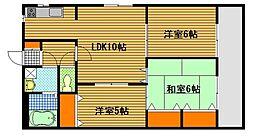 第2瀬田ハイツ I号館[3階]の間取り