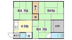 [一戸建] 兵庫県姫路市網干区垣内西町 の賃貸【兵庫県 / 姫路市】の間取り