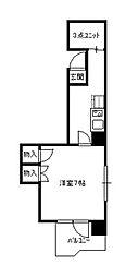 第二萬栄ビル[8階]の間取り