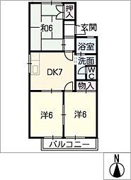 ロイヤルコートB棟[1階]の間取り