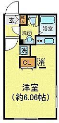 JR山手線 大塚駅 徒歩4分の賃貸マンション 2階ワンルームの間取り