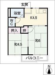 フォーブル渋谷B[1階]の間取り