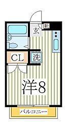 ケンコーポ青山台[2階]の間取り