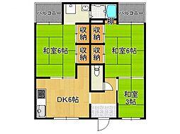 ビレッジハウス見瀬 2号棟[1階]の間取り
