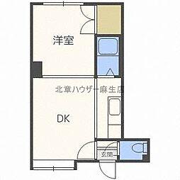 パール1NOVAマンション[1階]の間取り