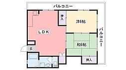 ニュ−甲子園マンション[301号室]の間取り