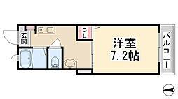 ラフィネ花屋敷[103号室]の間取り