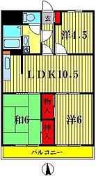 三浦マンション[3階]の間取り